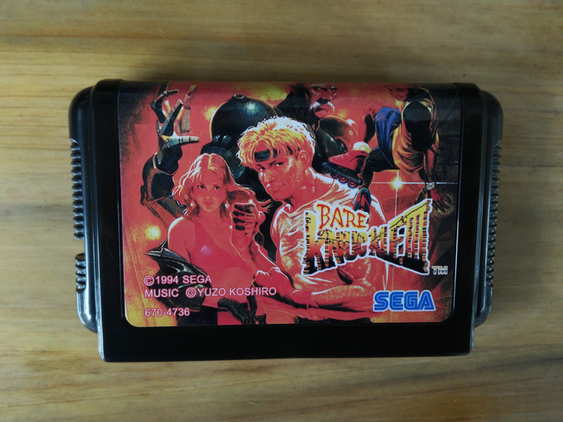 MD Game : BARE KNUCKLE III 3 ( Japan Version!! )