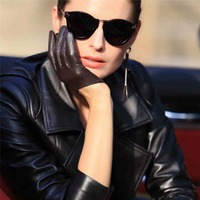 2018 New Genuine Leather Women Gloves Female Dance Sheepskin Gloves Fashion Trend Short Style Fingers Unlined