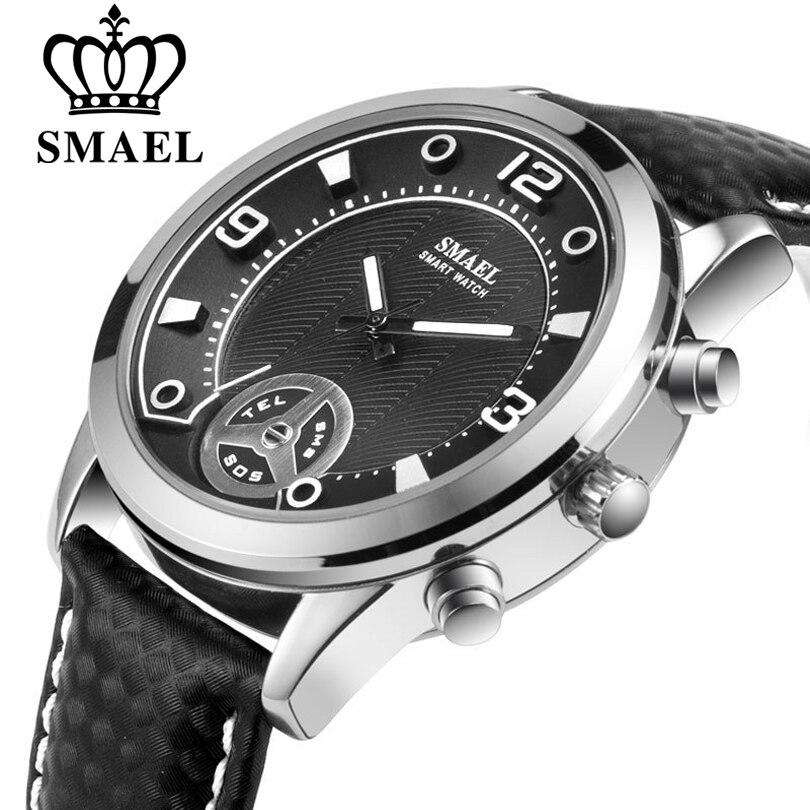 SMAEL Montre Smart Watch Hommes Étanche Sommeil Moniteur Bluetooth Hommes Sport Alliage Montres Appel Rappel Smartwatch pour Android et IOS