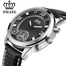 SMAEL Смарт-часы Для мужчин Водонепроницаемый трекер сна Bluetooth Для мужчин спортивные часы сплава напоминание Smartwatch для Android и IOS