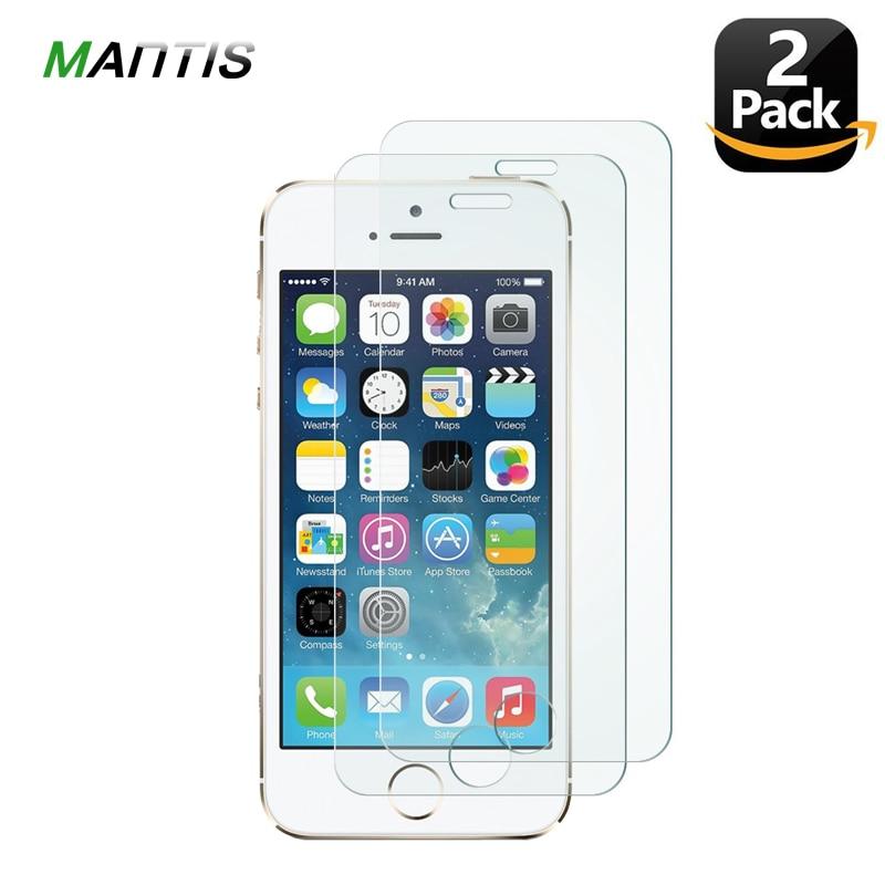 Богомол 2.5D 0,26 мм [2 упак.] защитный Стекло на для IPhone 5S 4 Экран протектор для IPhone Se 5 5S Стекло для IPhone 5 6 7 8X10