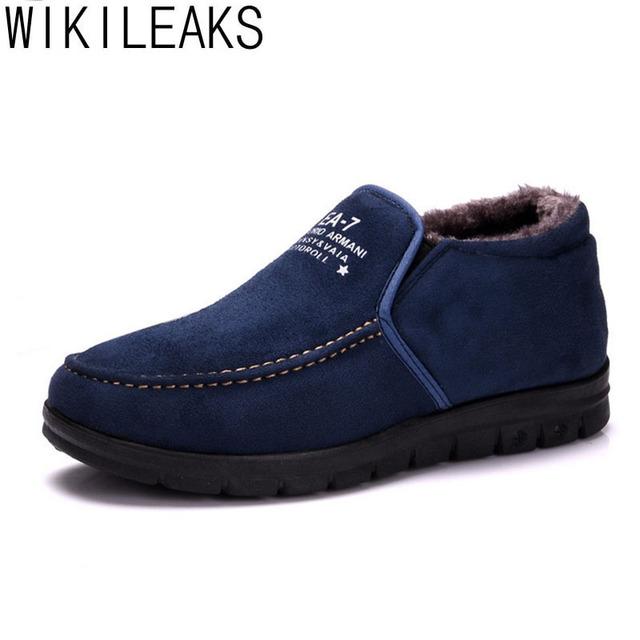 Wikileaks Marca Novos Sapatos Botas de Neve Ankle Boots Sapatos Quentes Homens Inverno Austrália Botas De Neve Homens Zapatos Mujer