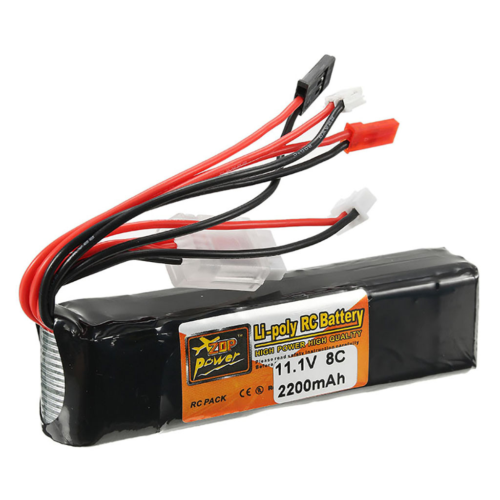 Image 1 - Portable Suitable Charging ZOP 11.1V 2200mAh 8C 3S Battery JST Plug For RC Car Airplane Helicopter Part convenient and practical-in Parts & Accessories from Toys & Hobbies