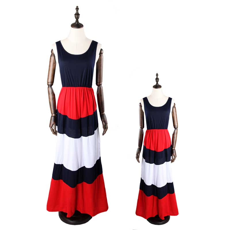 f33db8ec83 2019 family matching Mommy and me dresses clothes mom dress kids ...