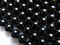 Freeshipping natural momorion black quartz smooth round beads stone for jewelry
