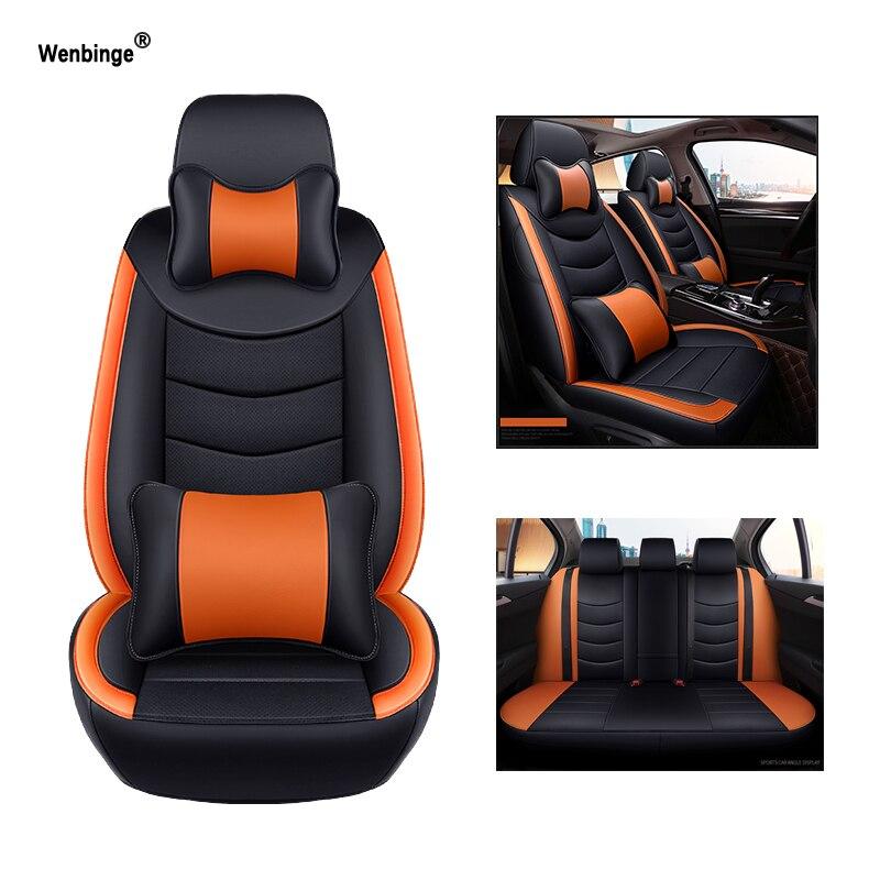 Wenbinge housse de siège de voiture en cuir de vachette pour hyundai solaris 2017 creta accessoires d'accent i20 ix35 elantra housses pour véhicule