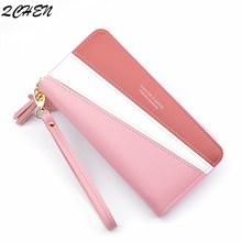 Wallets Women Long Zipper Luxury Brand Leather Coin Purses Tassel Design Clutch Wallets Female Money Bag Credit Card Holder  494