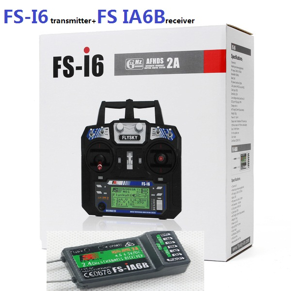 Flysky FS-i6 FS I6 2.4G 6ch RC Transmitter Controller wvith FS-iA6 Receiver For RC Helicopter Plane Quadcopter Glider drone flysky fs i6 fs i6 2 4g 6ch rc transmitter controller fs ia6 or ia6b receiver for rc helicopter plane quadcopter mode 1 mode 2