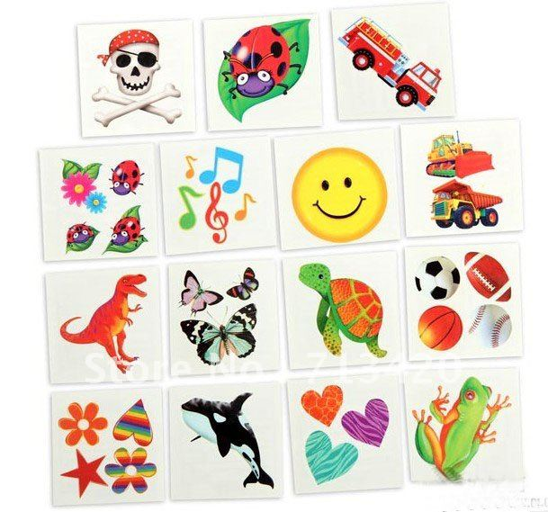 Wholesale hotsale Water transfer Cartoon Tattoos Temporary Tattoo ...