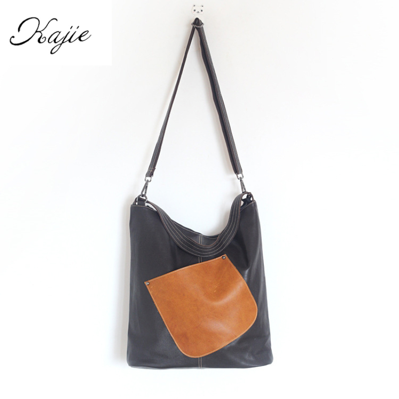 2018 Vintage Genuine Leather Women Handbag Casual Shoulder Bag Large Capacity Lady High Quality Cowhide Shopping Bag Big Tote 2017 esufeir brand genuine leather women handbag fashion shoulder bag solid cowhide composite bag large capacity casual tote bag