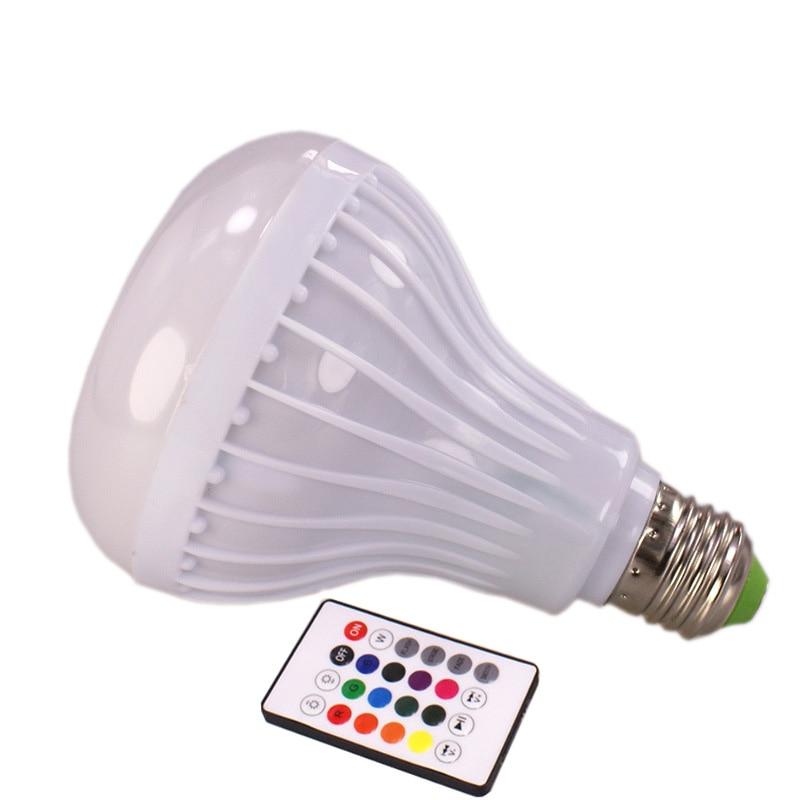 JLAPRIRA Smart RGB RGBW E27 Draadloze Bluetooth Speaker Lamp Muziek Dimbare LED Licht Lamp met 24 Toetsen Afstandsbediening - 2
