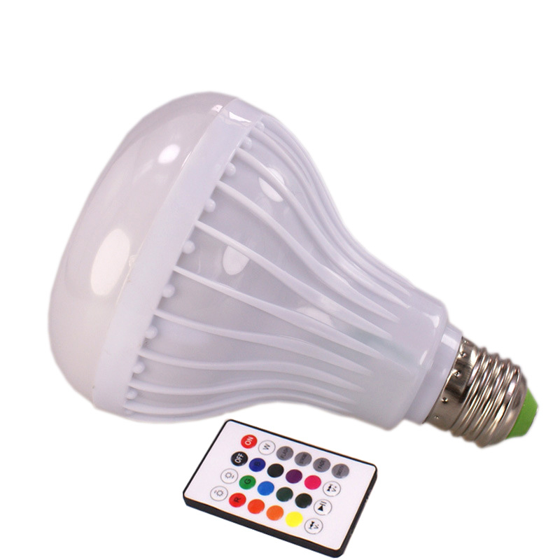 JLAPRIRA Smart RGB RGBW E27 altavoz inalámbrico Bluetooth bombilla música reproducción regulable lámpara de luz LED con control remoto de 24 teclas - 2