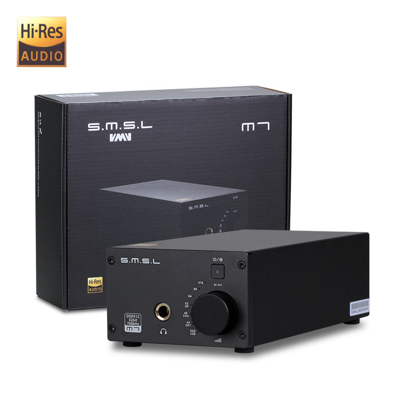 SMSL M7 2xAK4452 32Bit 768KHz DSD512 Hifi Audio USB DAC with Headphone font b Amplifier b