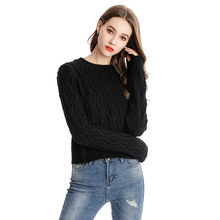 Fall Sweaters Fashion 2018 Women Knitted Crop Tops Plaisy Pullover Sweater Plus  Size Korean Style Casual 86d1eef3f0ef