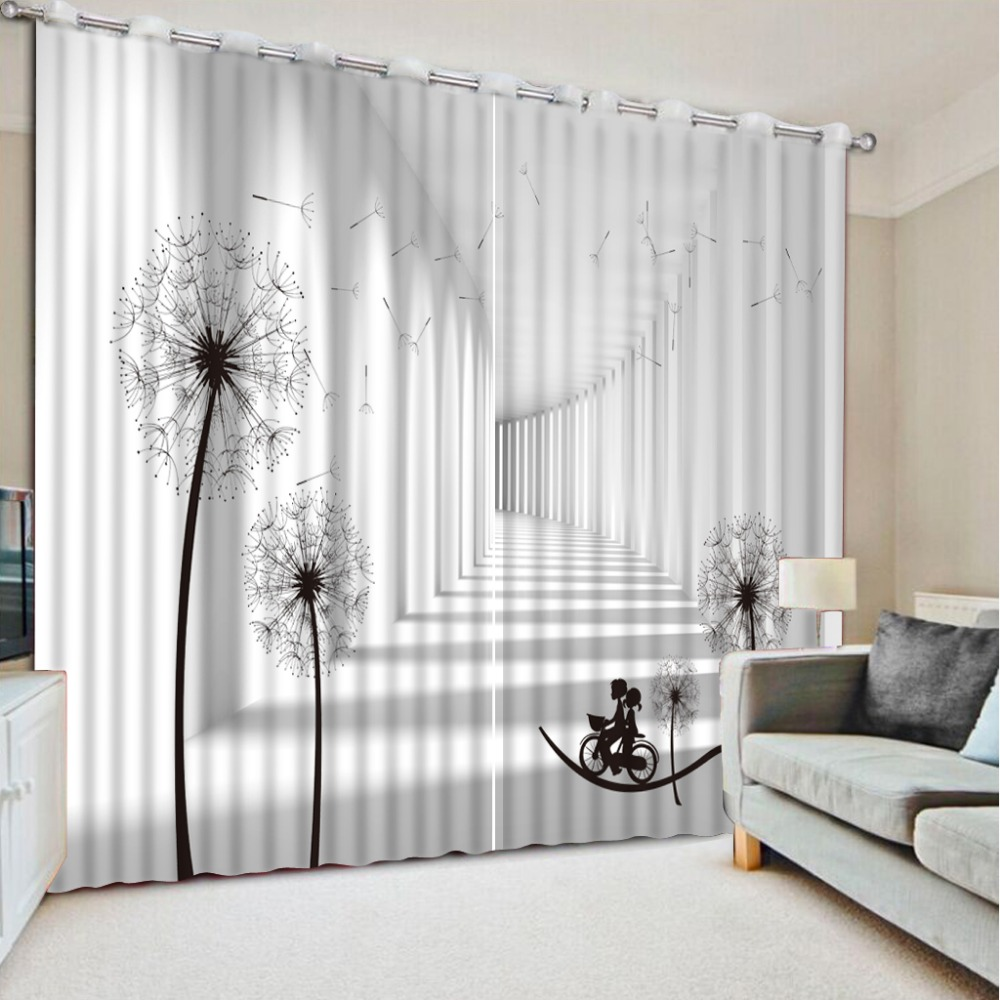Fashion 3d curtains window curtain living room extend 3d ...