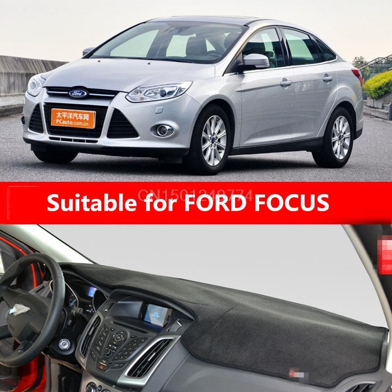 Dashmats voiture-style accessoires de couverture de tableau de bord pour ford focus 3 st MK3 2012 2013 2014 2015 2016