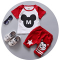 2016 New Summer Children Sets Cotton Sports two piece suit old baby boys girls short set