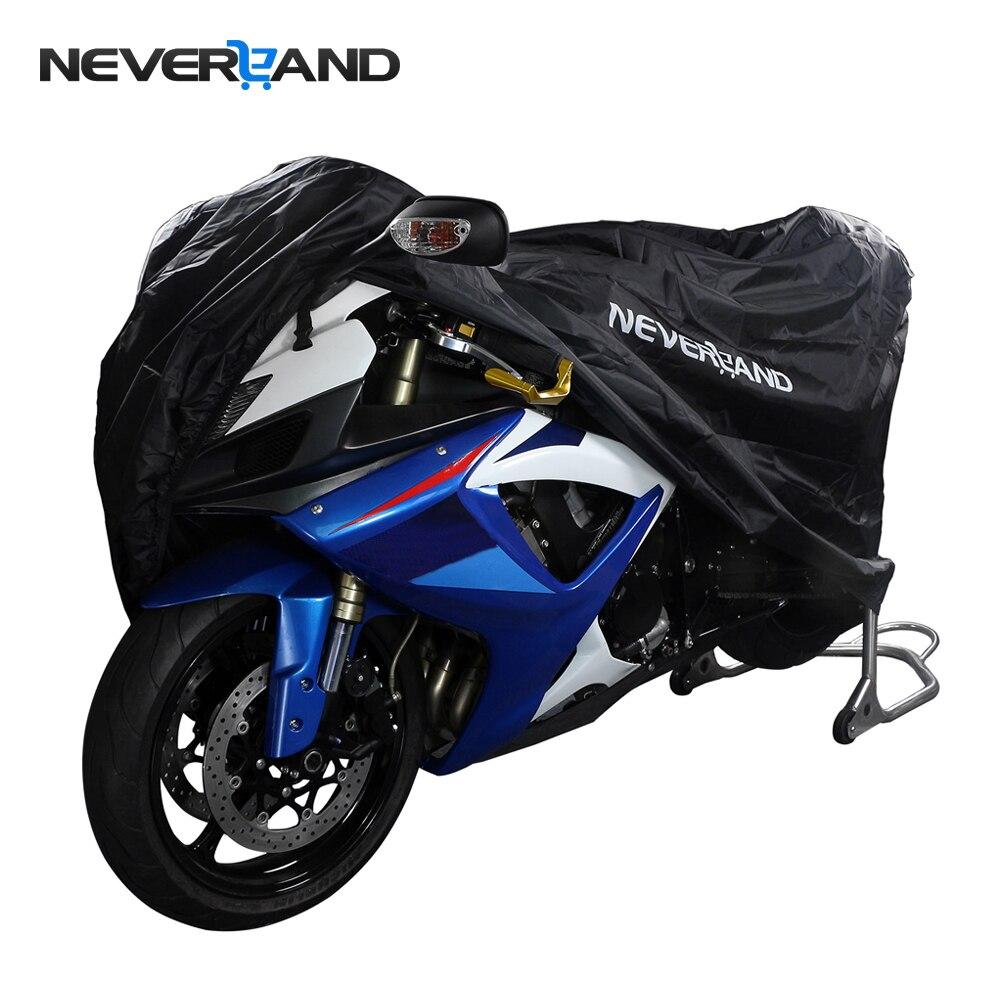 NEVERLAND Polyester Taffeta Black Bike Motorcycle Covers L Dust Waterproof Outdoor Rain UV Protector Motorbike UV Cover