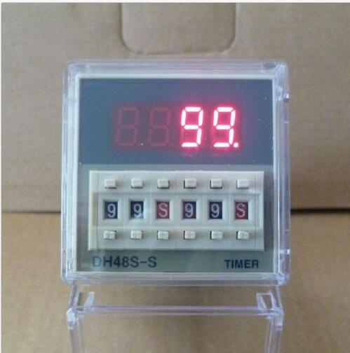 12V 24V 110V 220V Multifunction Digital Timer Relay On Delay 8 Pins SPDT DH48S-S Repeat Cycle 0.1S-99H 12v timing delay relay module cycle timer digital led dual display 0 999 hours