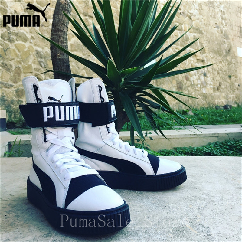 944d7228b317 PUMA Women s Platform Boot Quil Wn 364086 01 Winter High Top Sneaker  364089-01-02 Lace Up Trainers Rihanna Leather Shoes 35.5-39