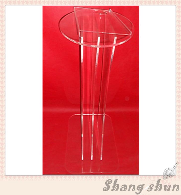Clear Plastic Church Podium Acrylic Rostrum Acrylic Multimedia Lectern Acrylic Pulpit Lectern