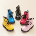 2017 new fashion Chaussure Enfant children martin boots girls boys winter shoes kids rain boots PU Leather Kids Sneakers 21-36 N