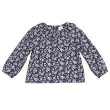Рубашки для маленьких девочек, топы для маленьких девочек, однотонная блузка с цветочным воротником и пышными рукавами