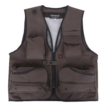 Casual Men's Clothing Fashion Vests Regular With Multi-pocket Photography Vest Men Casual Reporter Director Military Vest(China)
