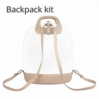 2018 D Buckle Oblong Handle Slim PU Leather Buckle Strap Bottom Backpack Kit Combination Set for Obag '50 O Bag