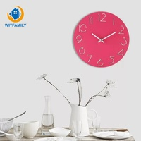 Modern Design Wood Wall Clock Silent Round Watch Hollowed Arabic Numbers Clock Wooden Wall Watch Decoration for Livingroom