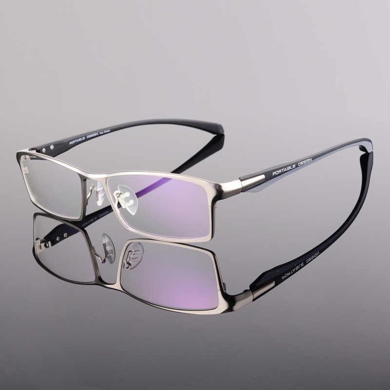 Toptical Fashion Glasses Frame Myopia Men Optical Eyeglasses Frame Commercial Eye Glasses Alloy Acetate Eyewear