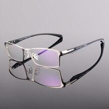 Мужские Оптические очки для близорукости, в оправе из сплава и ацетата