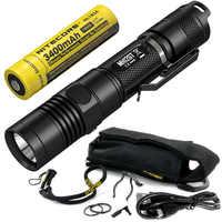 Продажа NITECORE MH12GT 1000 люмен светодиодный 18650 3400 mah аккумулятор USB Перезаряжаемый фонарик поиск спасательный Портативный Факел Бесплатная дост...