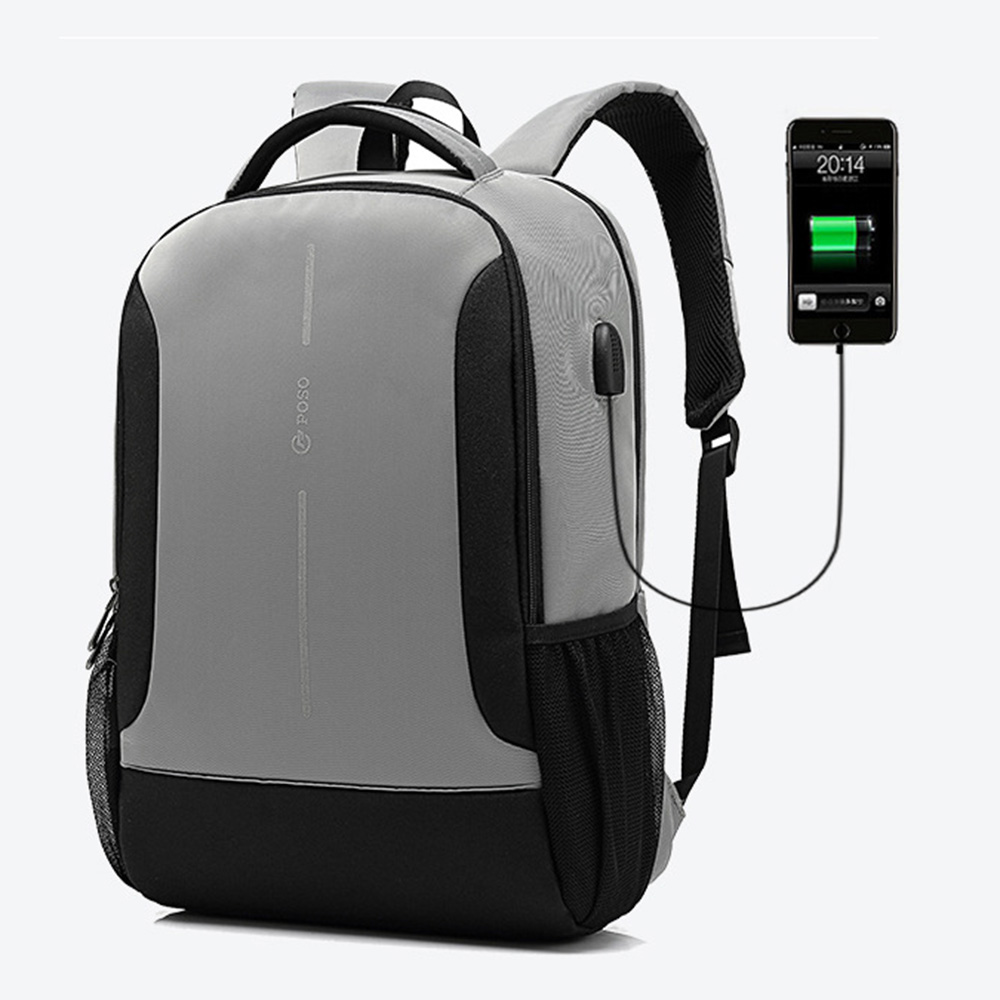 USB charge waterproof laptop backpack for 15 15.4 15.6 inch computer school  bag Big capacity laptop bag for lenovo sony hp black e1523c6a0e650