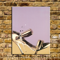 FREE SHIPPING Fashion Poster Prints High Heels Image Paintings for Decoration Canvas Painting Art Prints(Unframed) 80x100cm