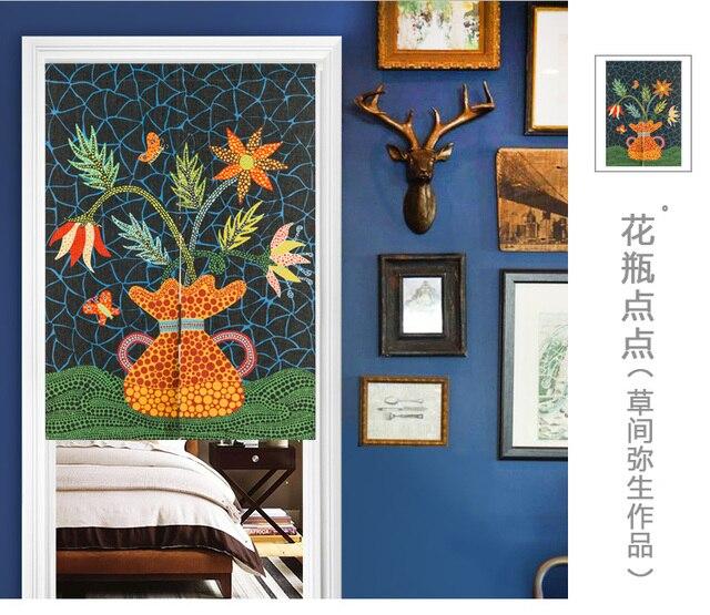 Japan stil leinen baumwolle Modernen minimalismus tür vorhang ...