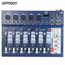 ammoon F7-USB 7-Channel Mic Line Audio Sound Mixer Mixing Console with USB Input 48V Phantom Power 3 Bands Equalizer for Karaoke - DISCOUNT ITEM  21% OFF Sports & Entertainment