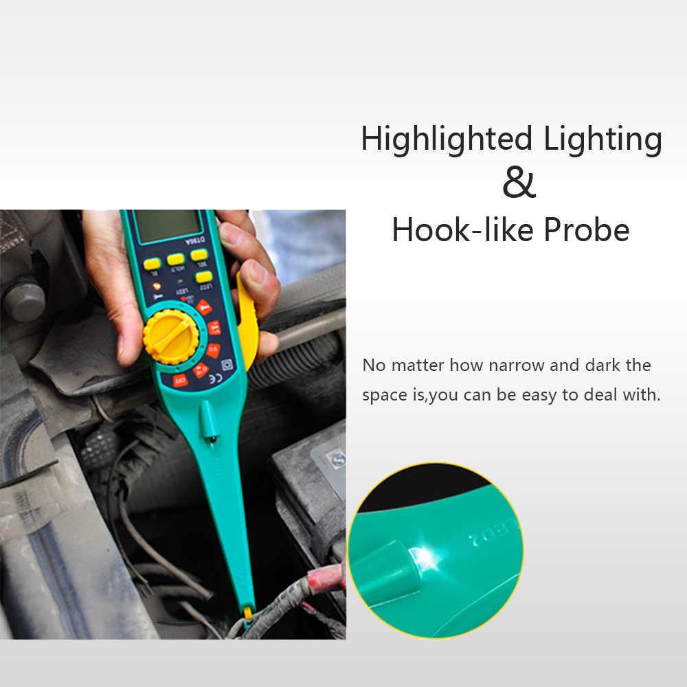 PROTMEX wielofunkcyjny akumulator do pojazdu Tester naprawa samochodów auto-moto diagnostyka samochodów nowy cyfrowe mierniki uniwersalne z sondy