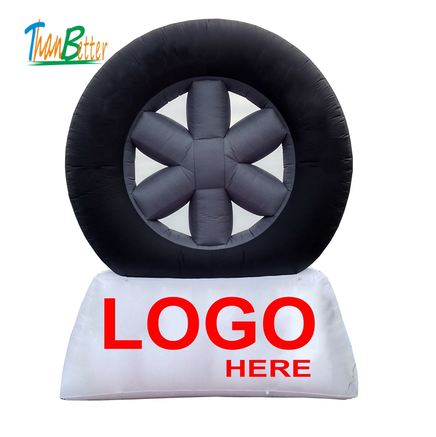 giant inflatable advertising display car tire model, Famous brand inflatable advertising tyre balloon ,inflatable tire replicas ao007 inflatable cake balloon event advertising 3 5m pvc fly balloon