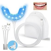 Портативный Умный холодный синий свет светодиодный устройство отбеливания зубов комплект для отбеливания зубов 4 usb порта для Android IOS ручка для отбеливания зубов