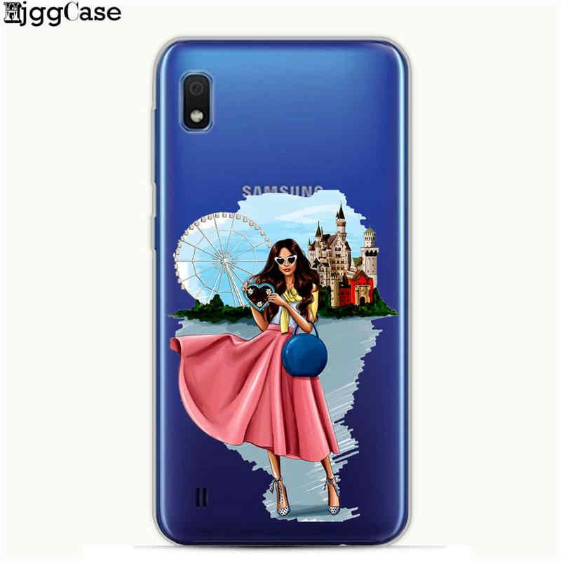 Para samsung galaxy a30 caso 2019 moda menina macia tpu silicone capa para samsung a10 a30 30 10 a 50 a505 a20 a40 a70 caso de telefone