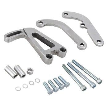 Lwp ためシボレー Sbc 小ブロック 262-400 ポリッシュアルミ電源ステアリングブラケット高品質のビレットアルミ