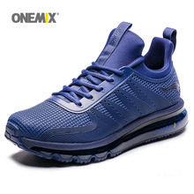 ONEMIX Air Cushion Running Shoes For Men Sports Shoes Breathable Light Crosser Fitness Outdoor Jogging Sneakers Max 12 li ning 2018 men color zone cushion running shoes breathable mono yarn li ning light weight sports shoes sneakers arhn101