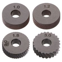 2pcs Diagonal Linear Knurl Wheels Knurling Knurler Tool 1.0/1.2/1.8/3.0mm Pitch стоимость