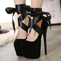 2016 Women's Sexy Platform Round Toe t Cross Straps Ultra Thin Heels High Heeled 19cm Pumps Wedding Shoes Women's shoes  z292