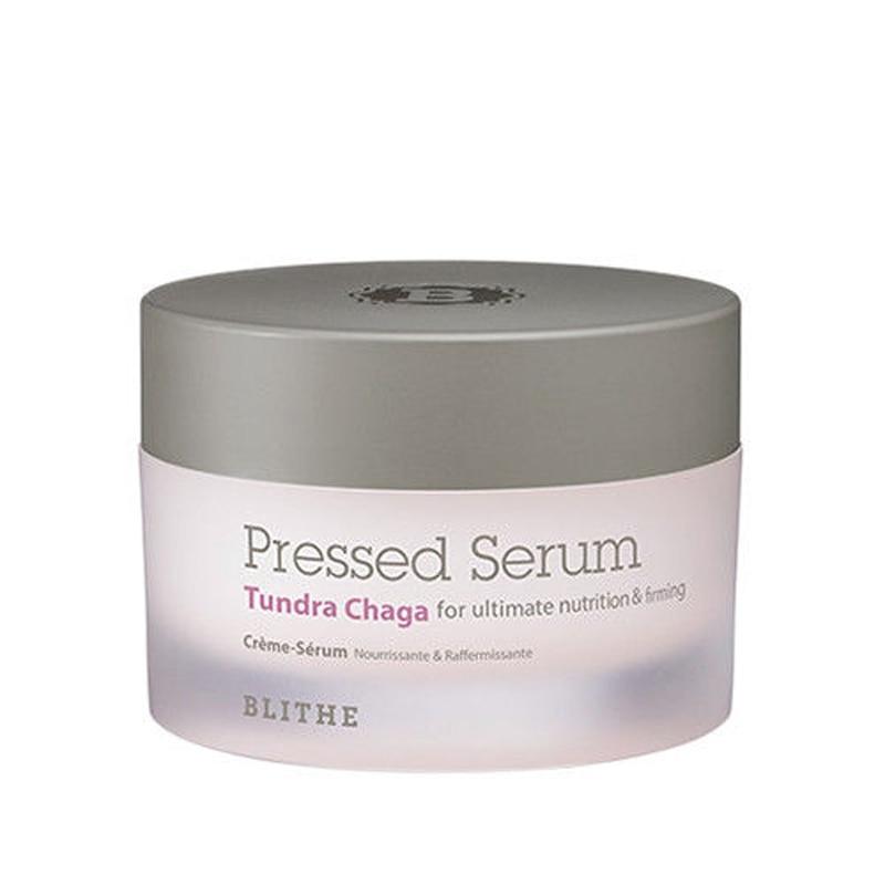 BLITHE Pressed Serum Tundra Chaga 50ml Facial Cream Glucan Hydrating Anti Wrinkle Face Cream Whitening Essence Korea Cosmetics