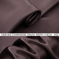 100%SILK CHARMEUSE SATIN 114cm width 19mommes Pure Mulberry Silk Fabric/China Wedding Dress Fabric Suppliers Dark Rosybrown NO22