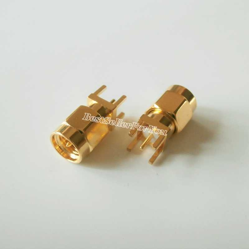 10 Stks Connector sma stekker soldeer PCB mount straight 5.08mm