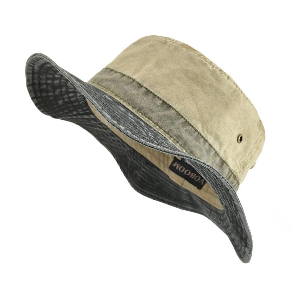 VOBOOM Bucket Hats For Men Women Washed Cotton Panama Hat Summer Fishing Hunting Cap Sun Protection Caps Panama Hat 139