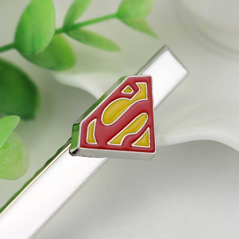 Dongsheng DC Comics Superman Justice League Gemelli Cravatta Clip Da Sposa S Smalto Gemelli Per Gli Uomini Camicia-40
